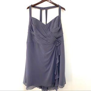 Bill Levkoff Lavender Sleeveless Dress Rose 28